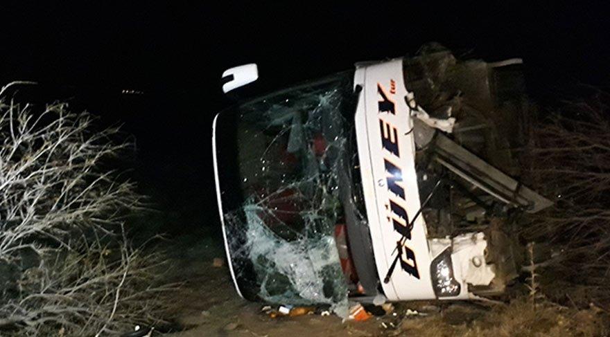 Ankara'da otobüs şarampole devrildi: 10 yaralı!