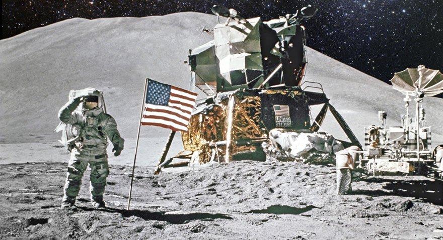 1969 yılında Neil Armstrong aya adım atan ilk insan olmuştu. Fotoğraf: Shutterstock