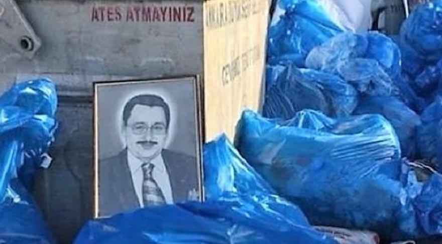 Gökçek'in portresi belediye çöplüğünde bulundu