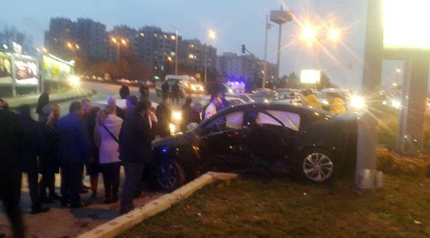 CHP'li başkan trafik kazası geçirdi!