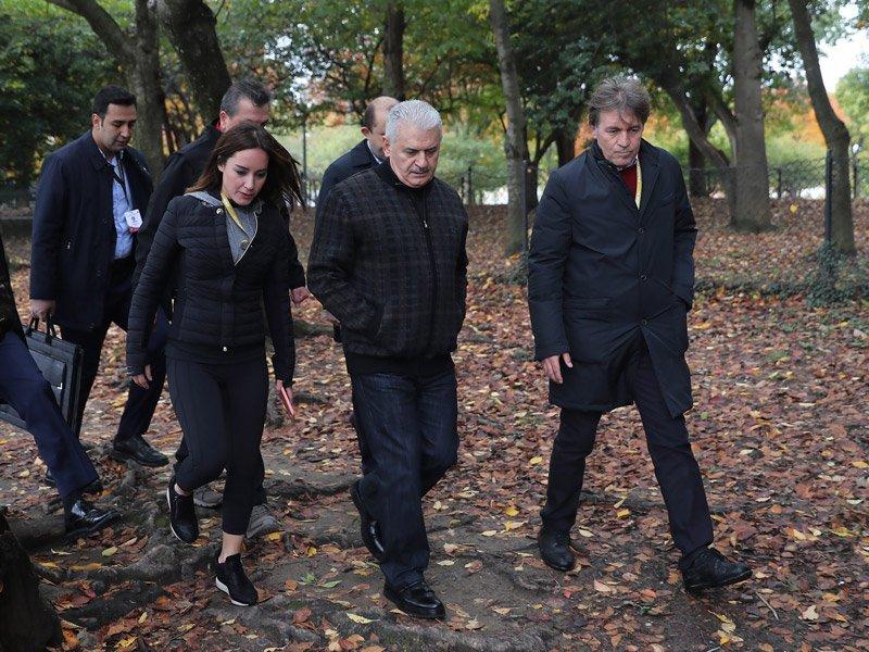 FOTO:DHA - Başbakan Binali Yıldırım, ABD'de gazetecilere konuştu, Bahçeli'nin sözlerini yorumladı.