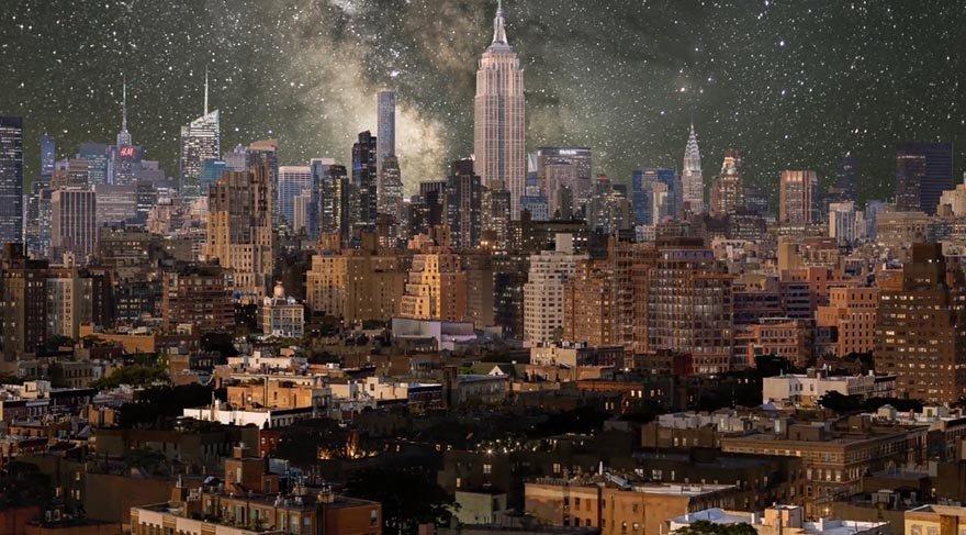 New York görüntülerini sanat çalışmasına dönüştürdü
