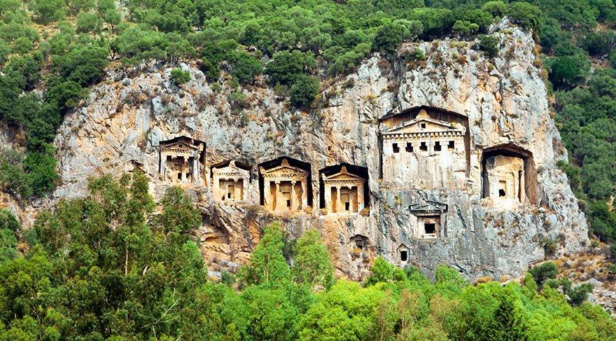 Dalyan'daki Kaya Mezarları'nın gizemi