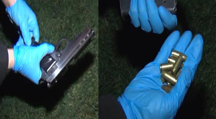 FOTO:DHA - Operasyonda tabanca ve mermiler de ele geçirildi.