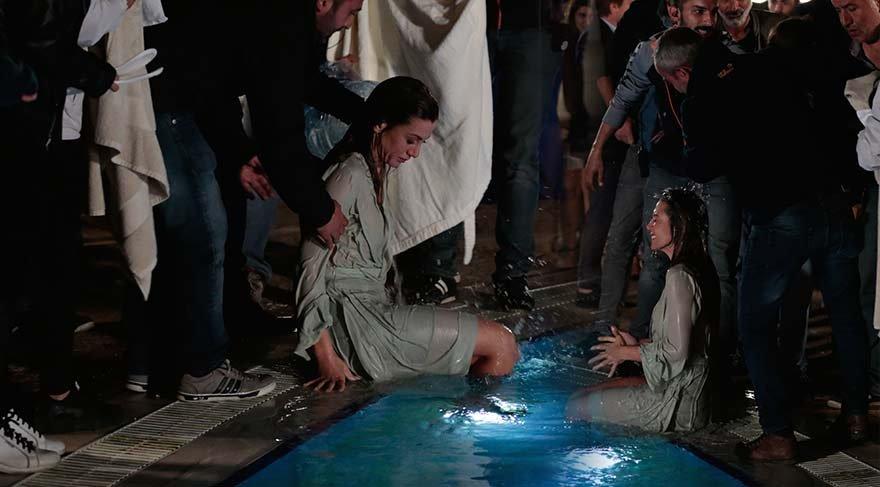 Gökçe Bahadır soğuk suya atladı şoka girdi!