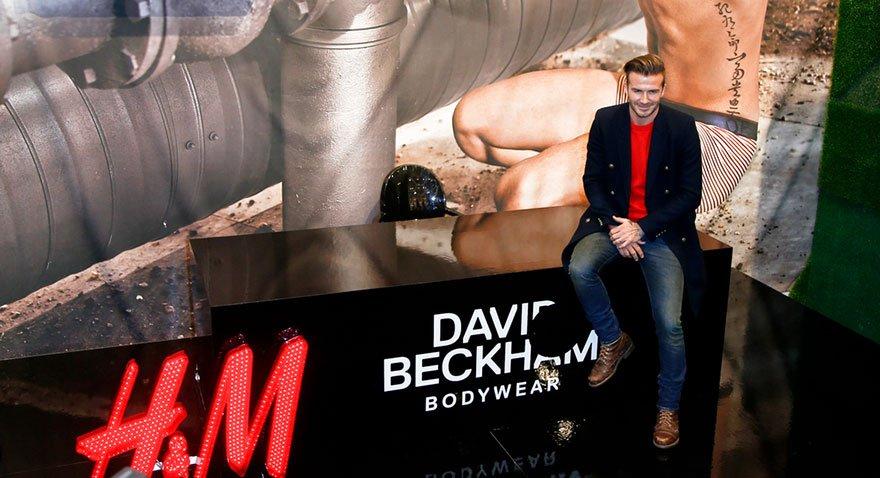 H&M Beckham için özel iç çamaşırı koleksiyonu çıkarmıştı.
