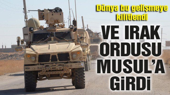 Irak Ordusu Suriye sınırında!