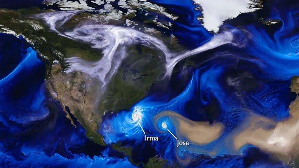 Kuzey Amerika'yı vuran kasırgalar hakkında görsel çalışma yapıldı