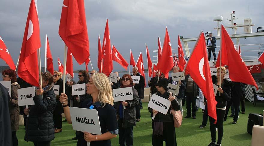 Yurttaşlar 18 adamızın Yunanistan tarafından işgal edilmesini böyle protesto etti