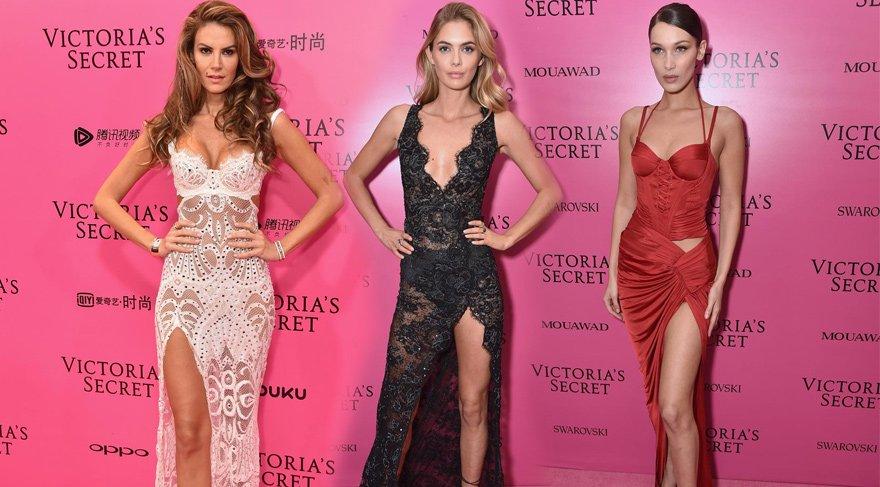 Victoria's Secret Fashion Show Pembe Halı'da bacaklar öne çıktı
