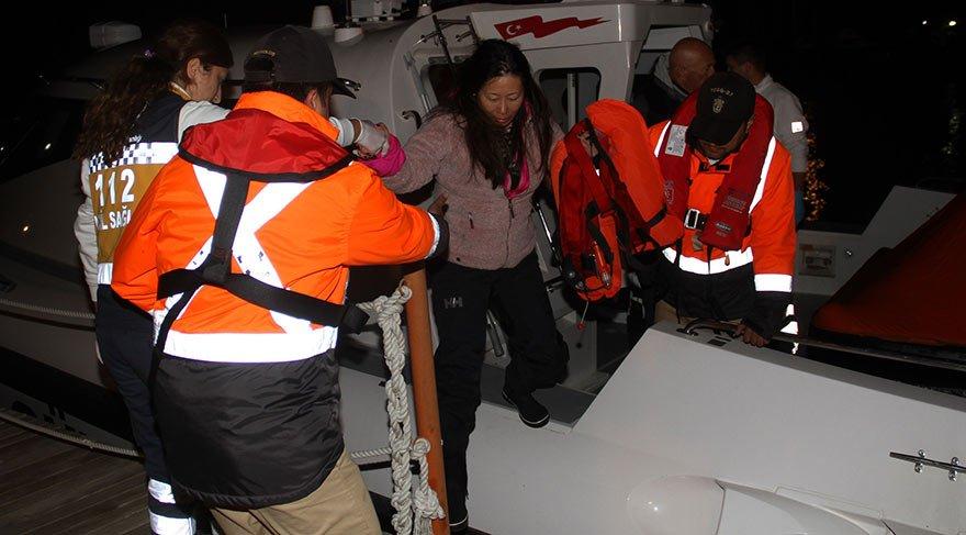 Göcek'te yat battı, 4 kişi son anda kurtarıldı