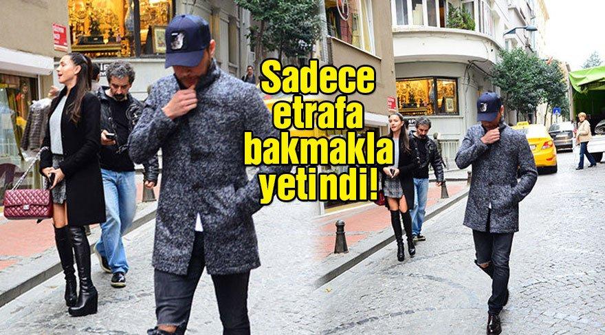 Sinan Akçıl gazetecileri görünce sevgilisinin elini bıraktı