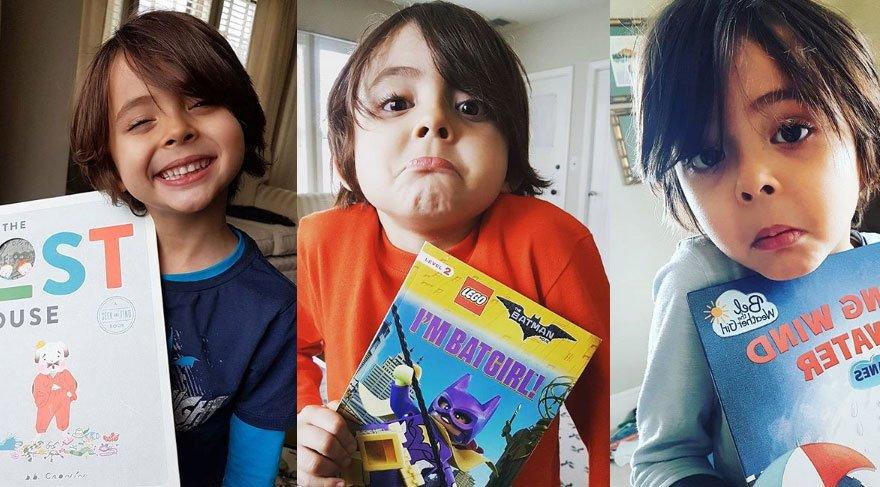 6 yaşındaki Sufi, 10 ayda bin kitap okudu!
