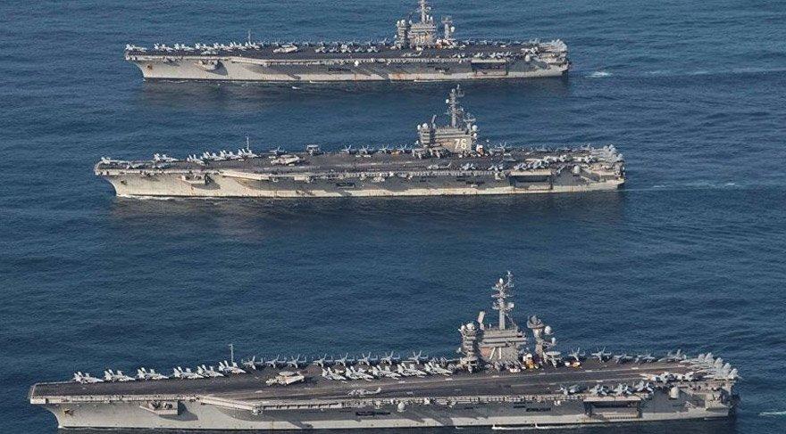 ABD'den Kuzey Kore'nin dibinde gövde gösterisi