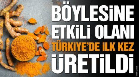 TÜRKİYE'DE İLK KEZ BÖYLESİNE MÜKEMMELİ ÜRETİLDİ