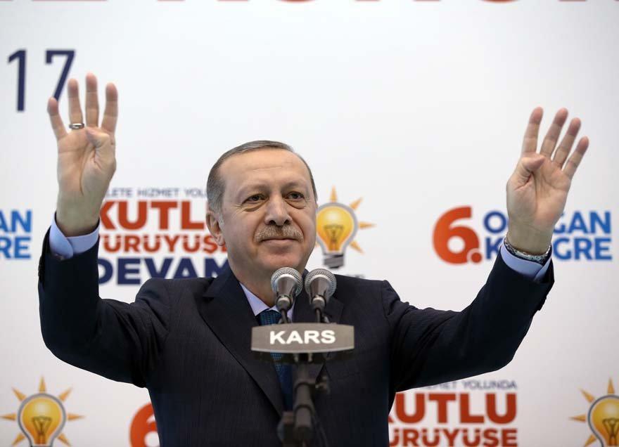 Erdoğan Kars İl Kongresi'nde Zarrab davasını değerlendirdi