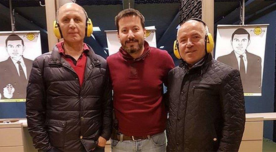 Trabzonspor Başkanı Muharrem Usta poligonda atış yapan tanınmış isimlerden