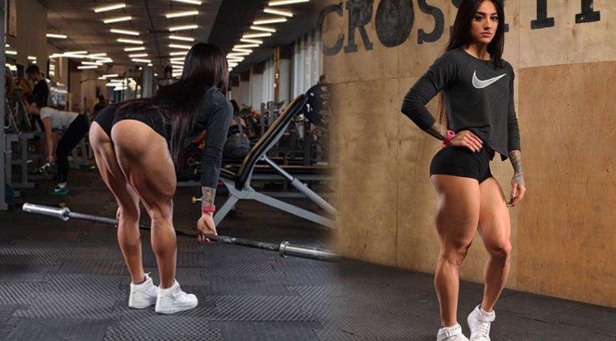 Ukraynalı sporcu Bakhar Nabieva'nın vücuduna bakan bir daha bakıyor