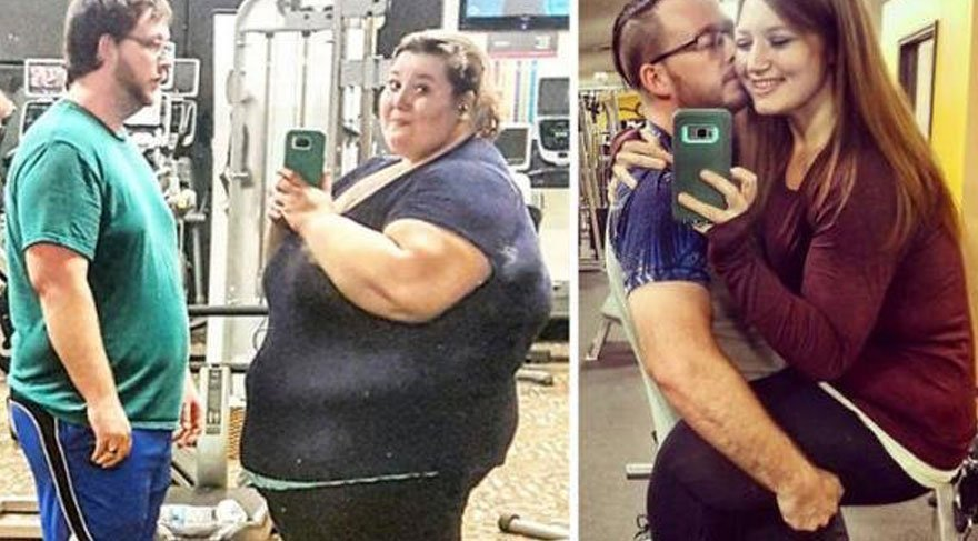 Evli çiftin sıra dışı hikayesi! Tam 138 kilo verdi