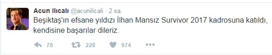 Acun'a tahrik cezası: 1 milyon lira…