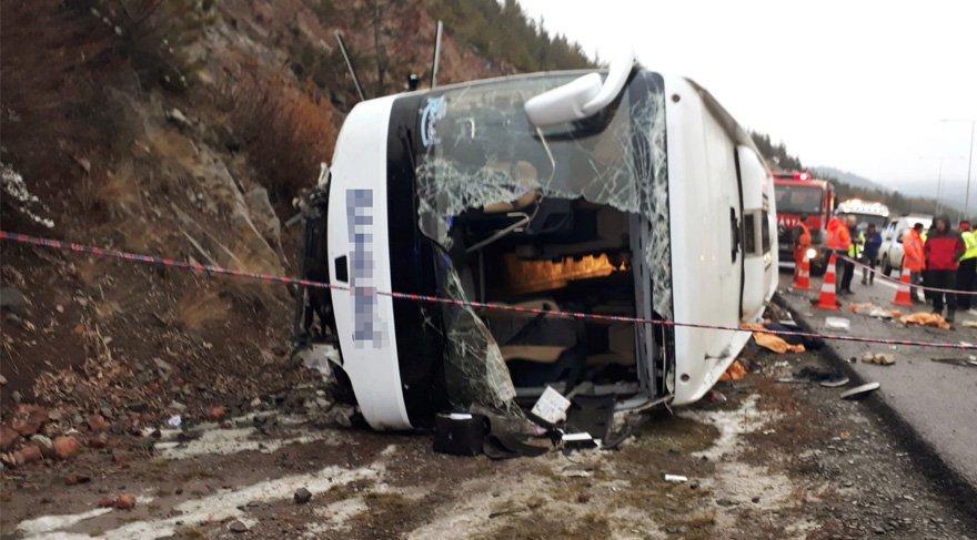 Son dakika... Ankara'da otobüs kazası