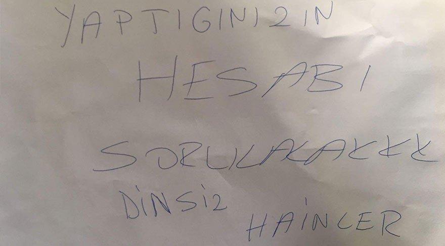 CHP ilçe binasına tehdit notu bırakıldı