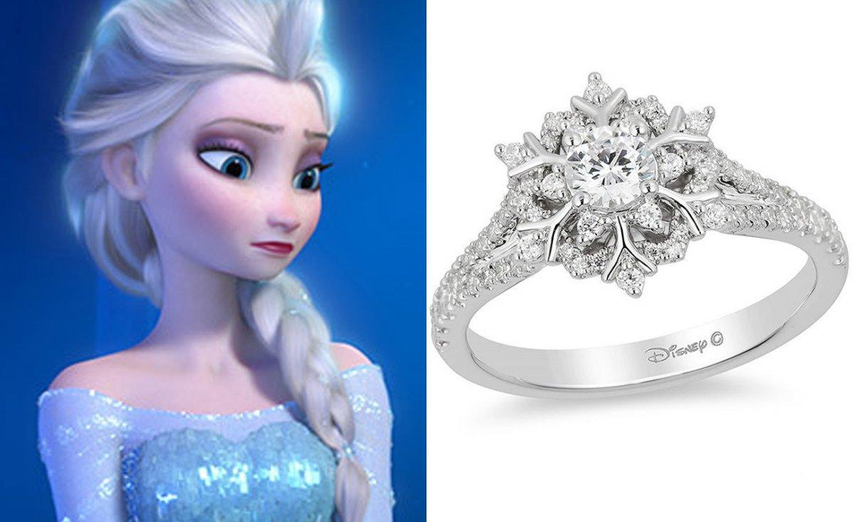 Buzlar Kraliçesi Elsa'nın yüzüğü 1.560,30 dolar.