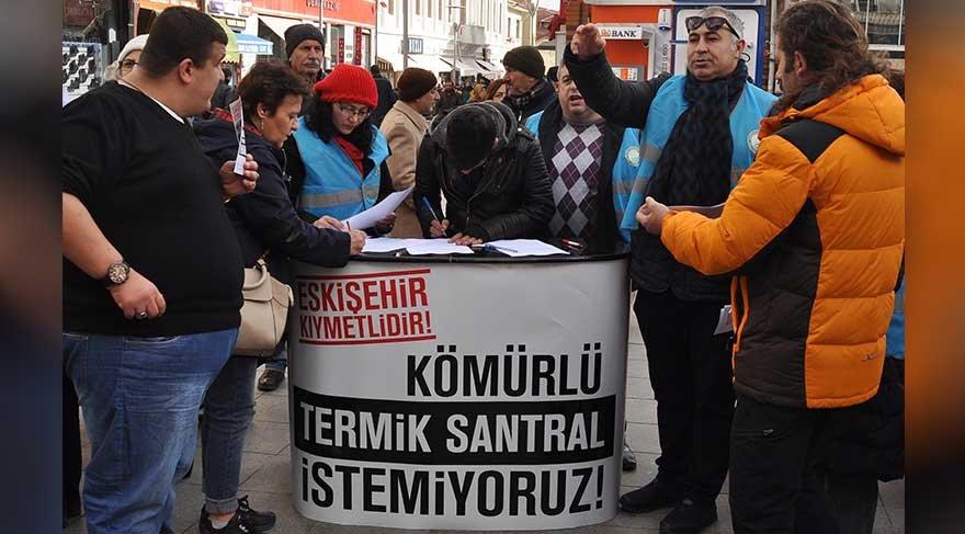 Eskişehir'de termik santrale karşı binlerce imza toplandı