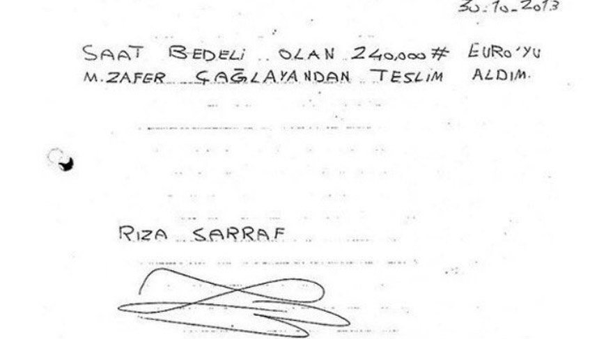 Avukat Fleming, Zafer Çağlayan'ın ismini telaffuz etmeden, ona alınan saatin 'peçeteden faturasını' sordu.