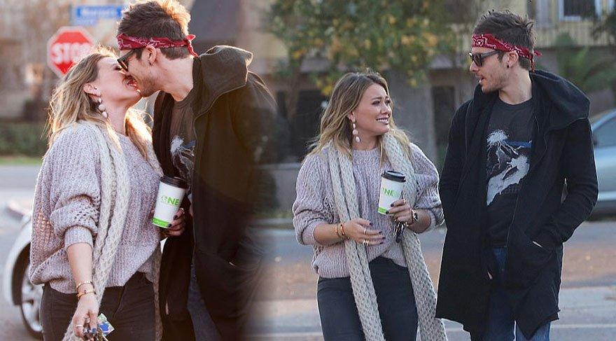 Hilary Duff ve sevgilisi Matthew Koma'nın romantik dakikaları