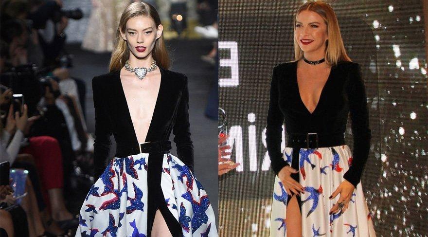 Ivana Sert Elie Saab'ın elbisenin kopyasını giyerek 'Çakma elbise' kurbanı oldu!