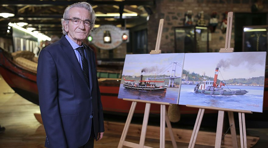'İzlenesi Gemiler'i tuvalinde resmetti