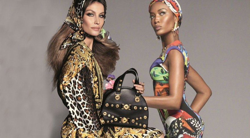 Versace'nin ilkbahar-yaz 2018 çekimlerine Campbell ve Bündchen damgası