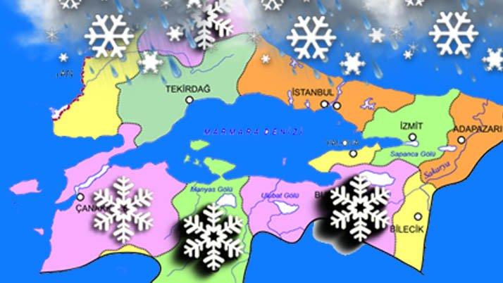 İstanbul kar kıskacında!