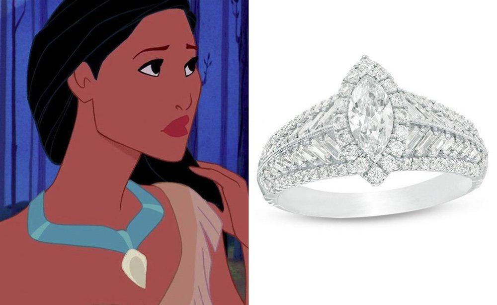 Pocahontas yüzüğü de koleksiyonun bir diğer pahalı yüzüğü. Fiyatı 3,499,99 dolar.