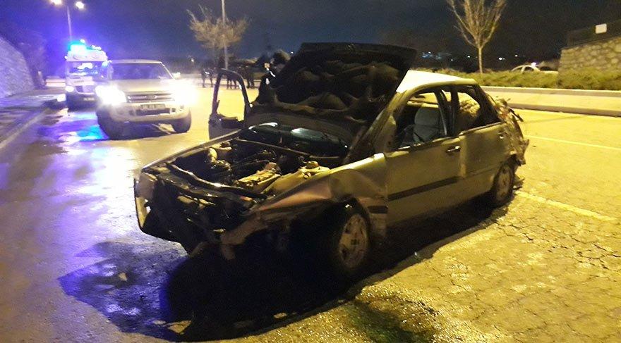 Başkent'te trafik kazası! 1 ölü, 1 yaralı