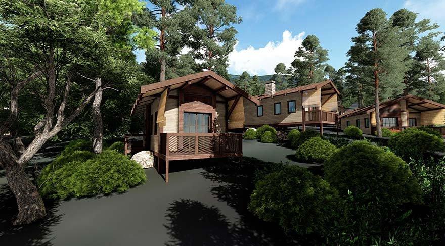 İhaleyi kazanan şirket, park sınırları içinde belirlenen alana, dağ köşkü ve 25 bungalov yapacak.