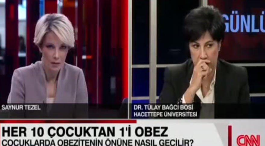 Doktor CNN Türk canlı yayınında öksürük krizine girdi