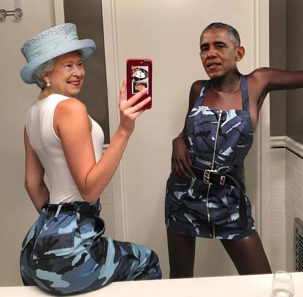 Obama ve Kraliçe...