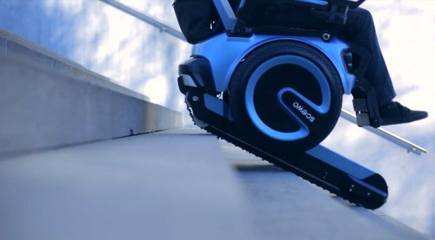 Bu elektrikli sandalye merdivenleri tırmanabiliyor...