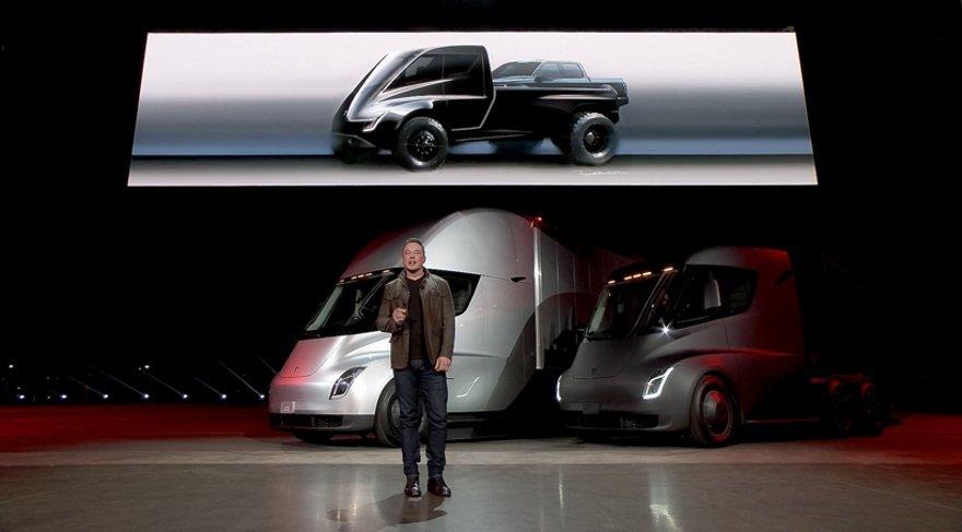 Tesla firmasından bir de elektrikli pick-up geliyor