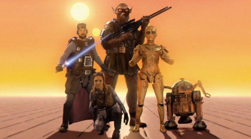 Bambaşka bir Star Wars! Bir de böyle izleyin…
