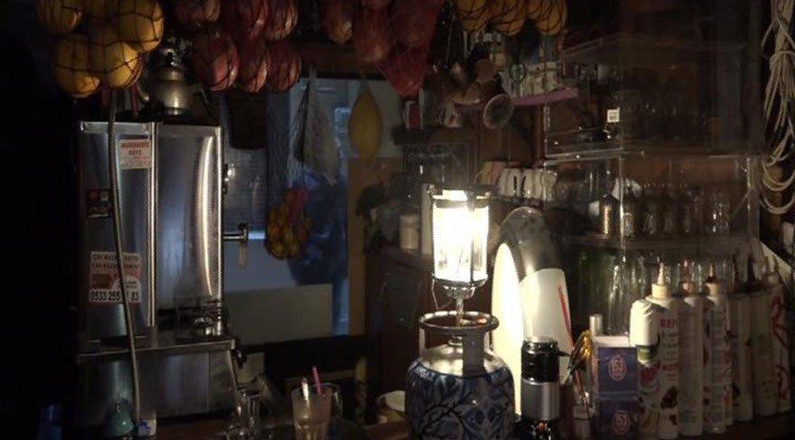 Taksim'de elektrik kesintisi isyanı