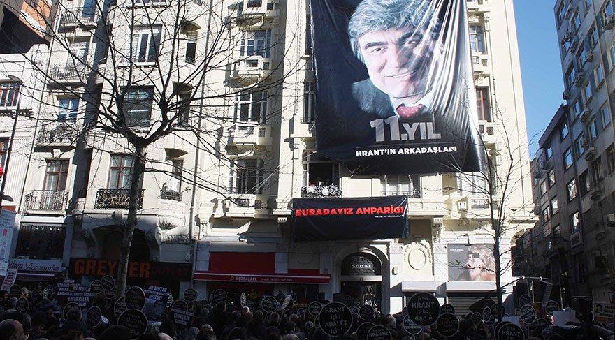 Hrant Dink, vurulduğu yerde anıldı
