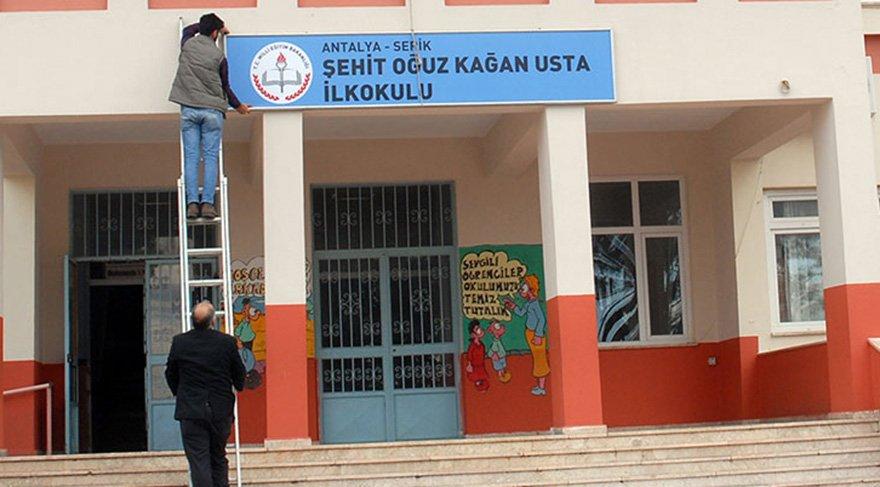 'Zeytin Dalı Harekatı' şehidinin adı, eşinin görev yaptığı okula verildi