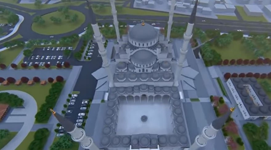 2019'da tamamlanması beklenen cami böyle olacak...