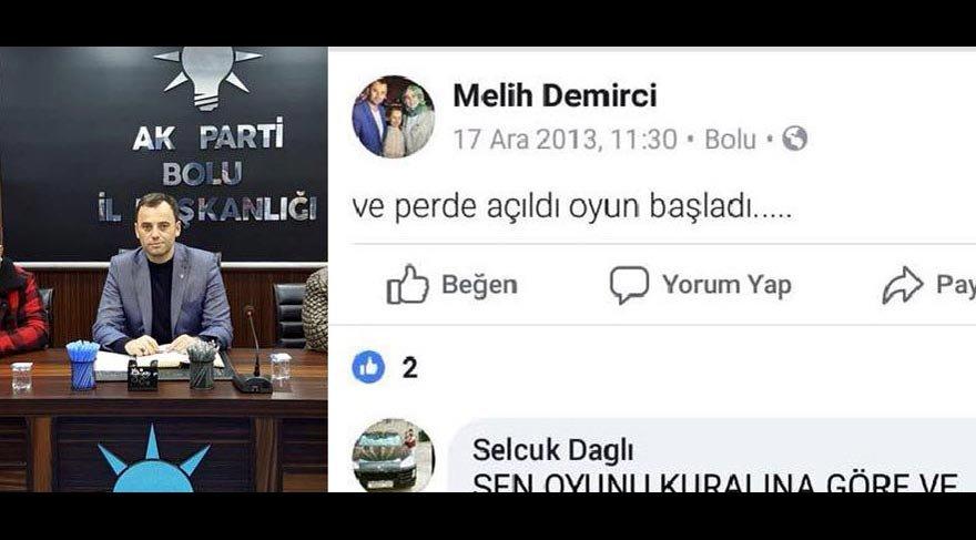 AKP il başkan vekilinin 17 Aralık paylaşımı tepkiye yol açtı