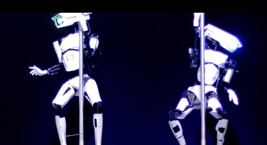 Striptizci robotlar tanıtıldı