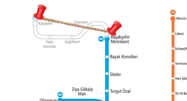 Başakşehir-Kayaşehir metro hattı