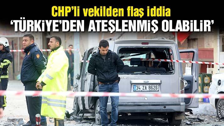 CHP'li vekilden flaş iddia: Roketlerin Türkiye içinden ateşlenme ihtimali var